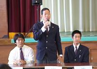富山大志君(3年スポーツ)